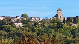 Auf den Weg nach Agen: Clermont-Dessous mit wunderbaren Blick auf die Garonne.